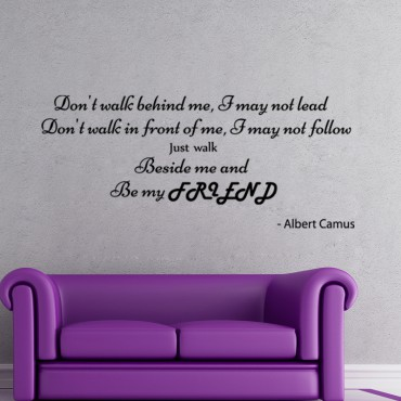 Sticker Albert Camus Be my friend - stickers citations & stickers muraux - fanastick.com