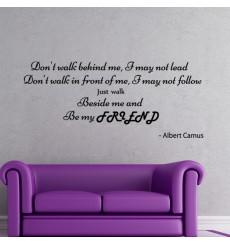 Sticker Albert Camus Be my friend