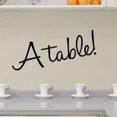 Sticker Design A table