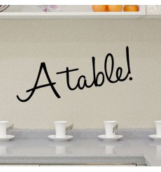 Sticker Design A table