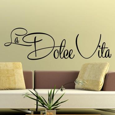 Sticker La Dolce Vita - stickers citations & stickers muraux - fanastick.com