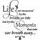 Sticker Life is not measured - stickers citations & stickers muraux - fanastick.com