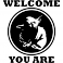 Sticker Welcome you are - stickers porte & stickers deco - fanastick.com