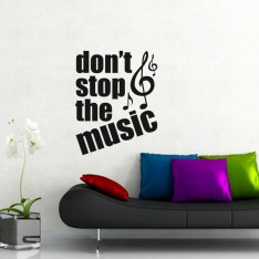 Sticker Don't stop the music