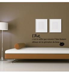 Sticker L'art, c'est le reflet - Victor Hugo