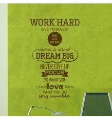 Sticker Work Hard, Dream Big