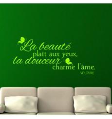 Sticker La beauté plaît aux yeux - Voltaire