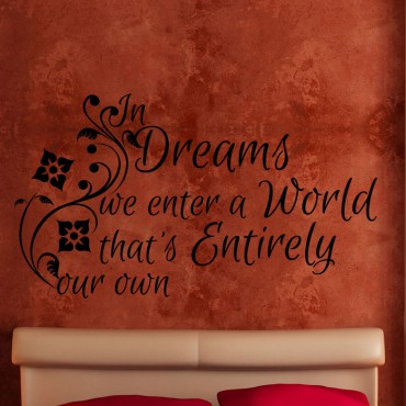 Sticker In dreams we enter… - stickers citations & stickers muraux - fanastick.com