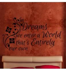 Sticker In dreams we enter…
