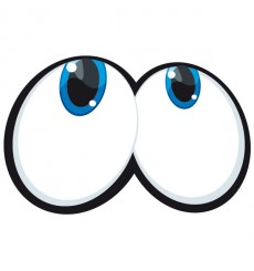Sticker Yeux cartoon 8