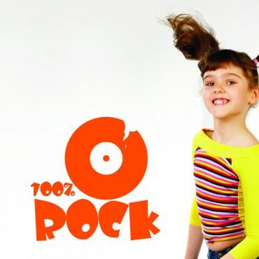 Sticker 100% rock - stickers citations & stickers muraux - fanastick.com
