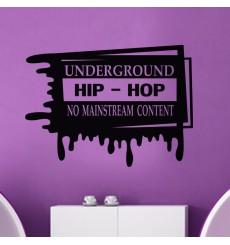 Sticker Underground hip-hop