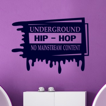 Sticker Underground hip-hop - stickers musique & stickers muraux - fanastick.com