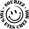 Sticker Souriez,vous êtes chez moi - stickers citations & stickers muraux - fanastick.com