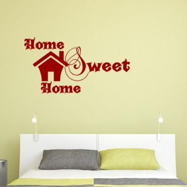 Sticker Design Home sweet home - stickers citations & stickers muraux - fanastick.com