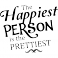 Sticker The happiest person is the prettiest - dola & stickers muraux - fanastick.com