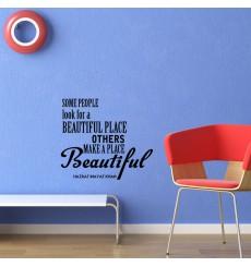 Sticker The beautiful place