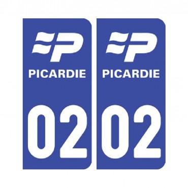 Sticker Pack de 2 autocollants pour plaque d'immatriculation (pour plaque avant et arrière) - nord-pas-de-calais-picardie & stickers muraux - fanastick.com