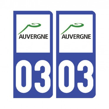 Sticker plaque Allier 03 - Pack de 2 - auvergne-rhônes-alpes & stickers muraux - fanastick.com