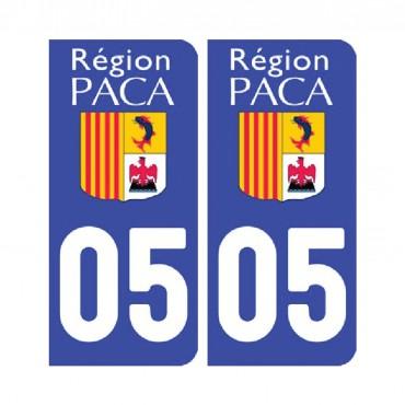 Sticker plaque Hautes-Alpes 05 - Pack de 2 - provence-alpes-côte d'azur & stickers muraux - fanastick.com