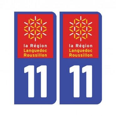 Sticker plaque Aude 11 - Pack de 2 - languedoc-roussillon-midi-pyrénées & stickers muraux - fanastick.com