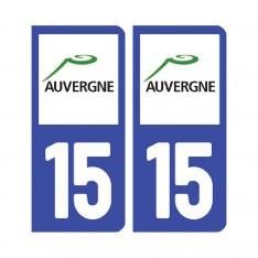 Sticker plaque Cantal 15 - Pack de 2