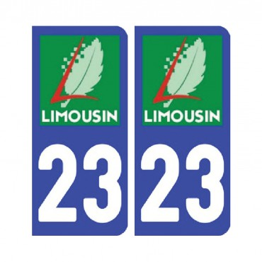 Sticker plaque Creuse 23 - Pack de 2 - aquitaine-limousin-poitou-charentes & stickers muraux - fanastick.com