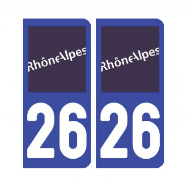 Sticker plaque Drôme 26 - Pack de 2 - auvergne-rhônes-alpes & stickers muraux - fanastick.com