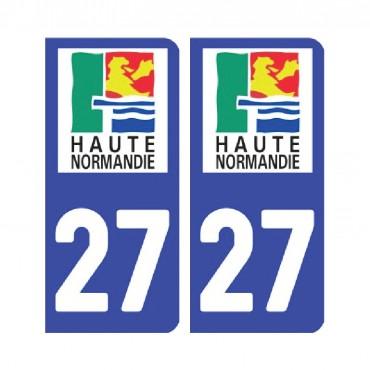 Sticker plaque Eure 27 - Pack de 2 - normandie & stickers muraux - fanastick.com