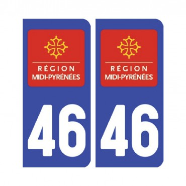 Sticker plaque Lot 46 - Pack de 2 - languedoc-roussillon-midi-pyrénées & stickers muraux - fanastick.com