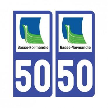 Sticker plaque Manche 50 - Pack de 2 - normandie & stickers muraux - fanastick.com