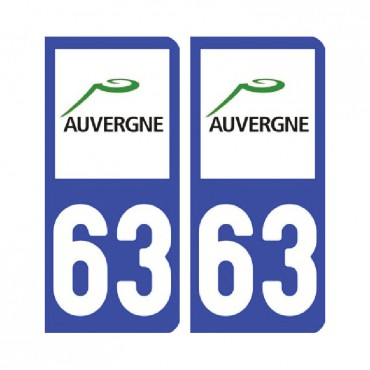 Sticker plaque Puy-de-Dôme 63 - Pack de 2 - auvergne-rhônes-alpes & stickers muraux - fanastick.com