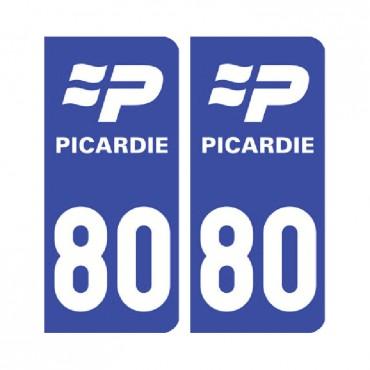Sticker plaque Somme 80 - Pack de 2 - nord-pas-de-calais-picardie & stickers muraux - fanastick.com