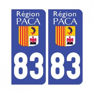 Sticker plaque Var 83 - Pack de 2 - provence-alpes-côte d'azur & stickers muraux - fanastick.com