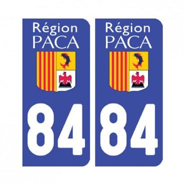 Sticker plaque Vaucluse 84 - Pack de 2 - provence-alpes-côte d'azur & stickers muraux - fanastick.com