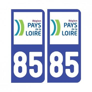 Sticker plaque Vendée 85 - Pack de 2 - pays de la loire & stickers muraux - fanastick.com