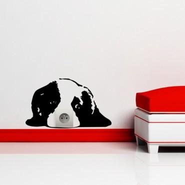 Sticker prise chien mignon - dola & stickers muraux - fanastick.com
