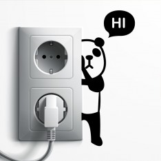 Sticker prise panda