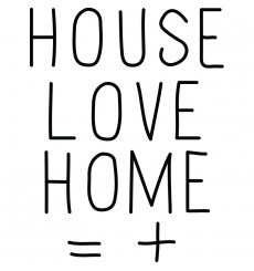 "Sticker "" House Love Home """