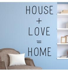 "Sticker "" House Love Home """