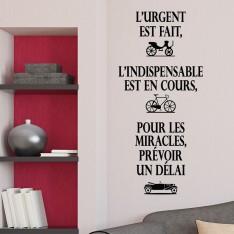 """Sticker """"l'urgent est fait"""""""