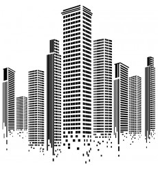 Sticker géant city