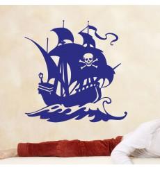 Sticker navire pirate