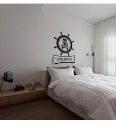 Sticker Emblème pirate