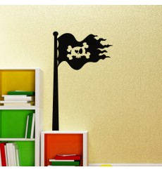 Sticker Design Drapeau pirate