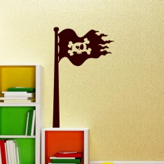 Sticker Design Drapeau pirate