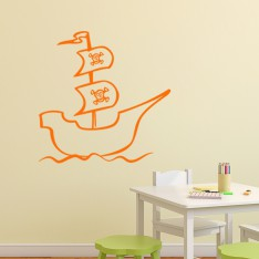 Sticker Bateau de pirate