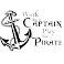 Sticker Work like a captain - stickers pirates & stickers enfant - fanastick.com