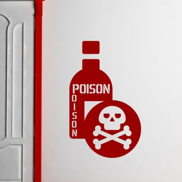 Sticker Bouteille de poison - stickers pirates & stickers enfant - fanastick.com