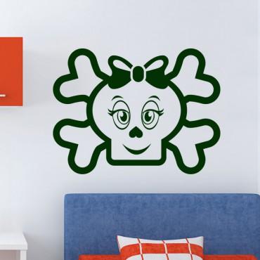Sticker Figure crâne et os - stickers pirates & stickers enfant - fanastick.com